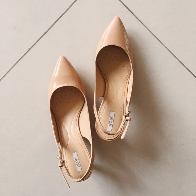 Brand New Geox Nude Real Leather Slingback