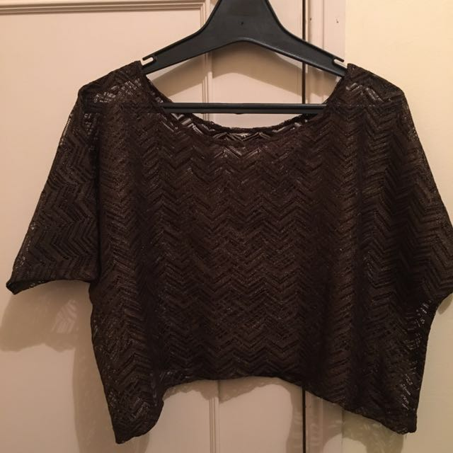 Brown/gold Chevron Top
