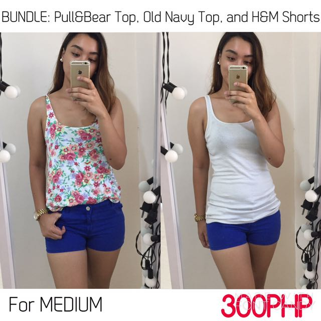 BUNDLE: Bershka Top, BNWT Old Navy Top and H&M Shorts