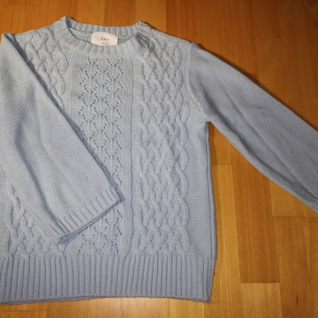 Cable knit sweater xs-s