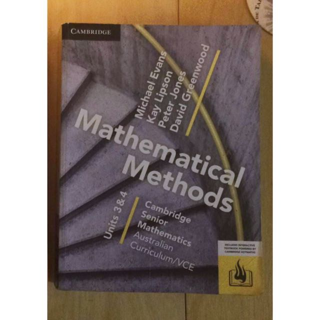 Cambridge maths methods units 3&4 textbook