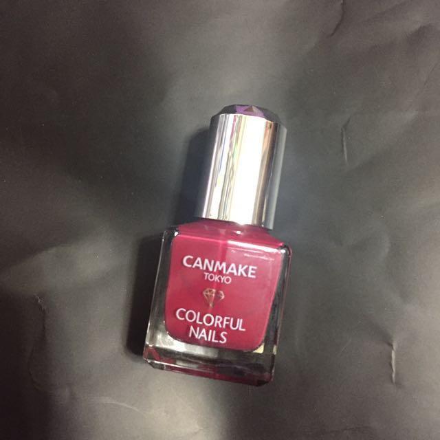 Canmake莓紅色指甲油