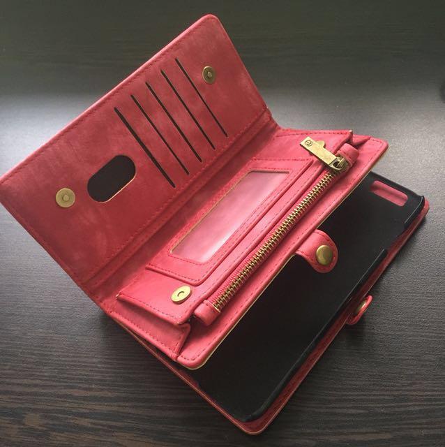 CaseMe Split Leather Multi-Slot Wallet