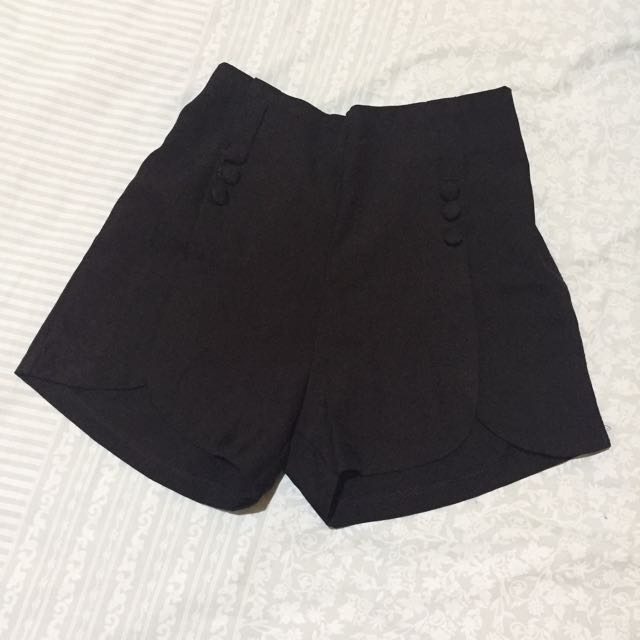 CHERRY HOTPANTS BLACK