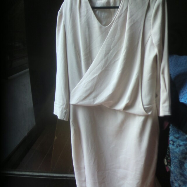 Repriced Classy dirty white dress