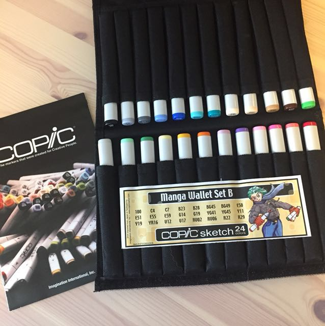 Copic Sketch Markers 24 Colors - Manga Wallet Set B