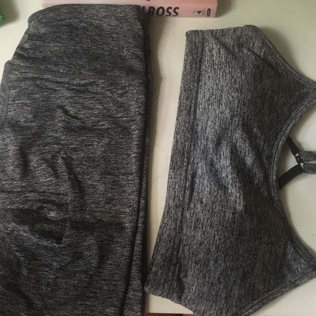 Cotton on body grey matching active set