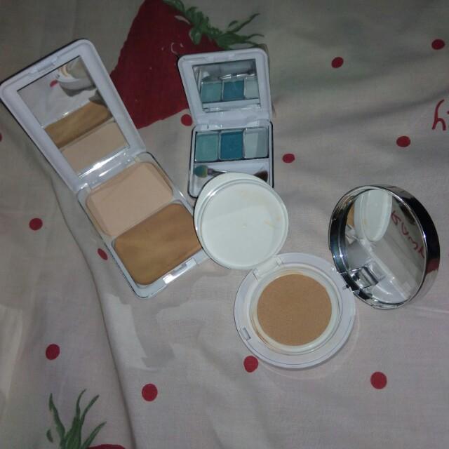 Cushion the face shop, powder, dan eye shadow