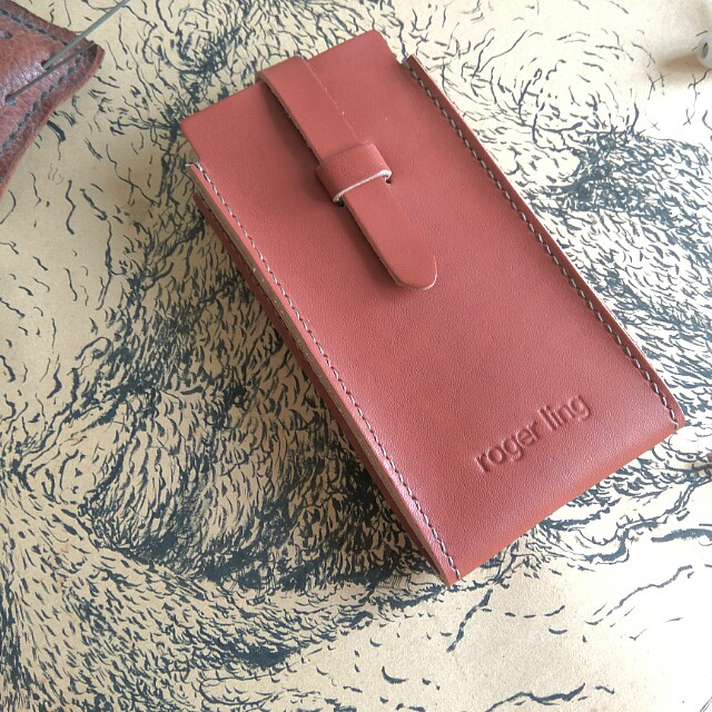 Customize Leather Phone Pouch+Hook Belt