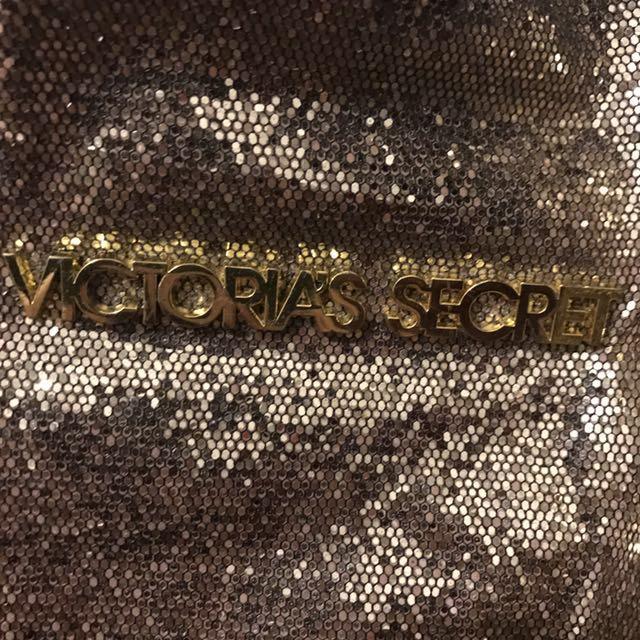 DONATED - NO LONGER FOR SALE  Victoria's Secret giant beach bag gold glitter