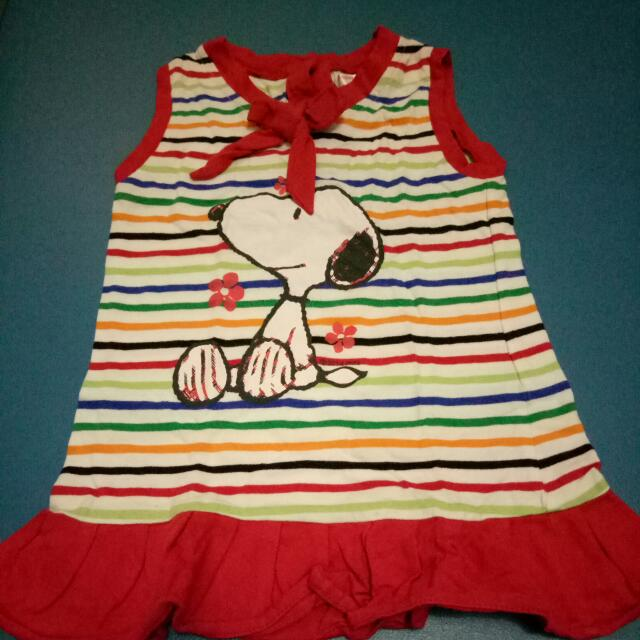 Dress Anak Snoopy Size L