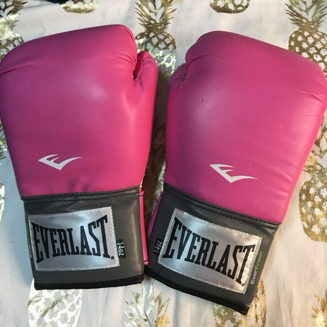 Everlast 14oz Pink Gloves