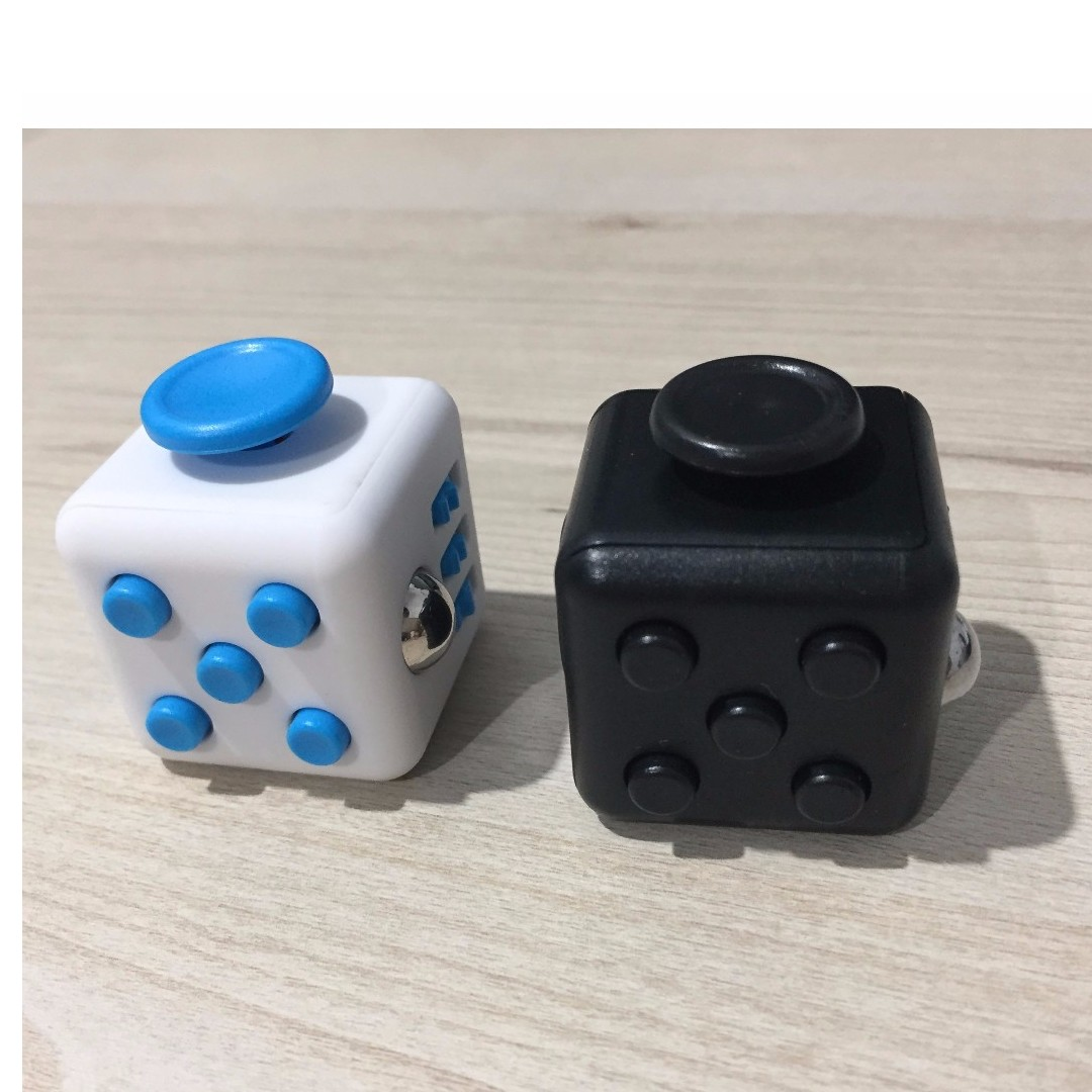 Fidget Cube Black White Blue Toys Games Others On Carousell
