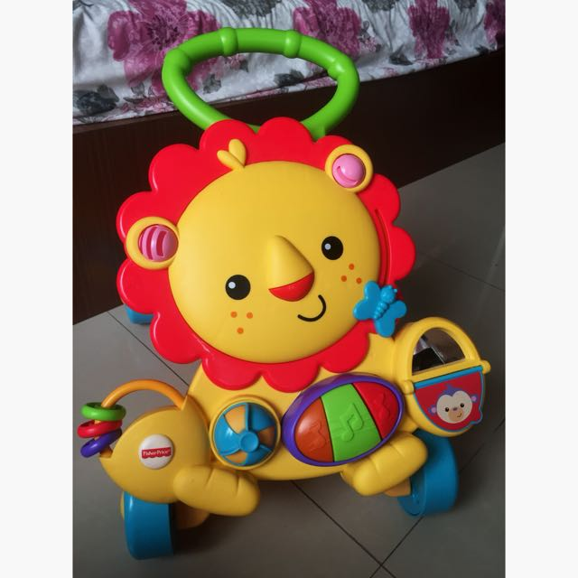 Fisher price lion pushwalker