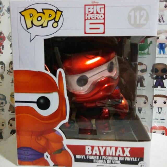 Funko Pop Metallic Baymax Exclusive Vinyl Figure Collectible Toy Gift Disney Movie Big Hero Pixar