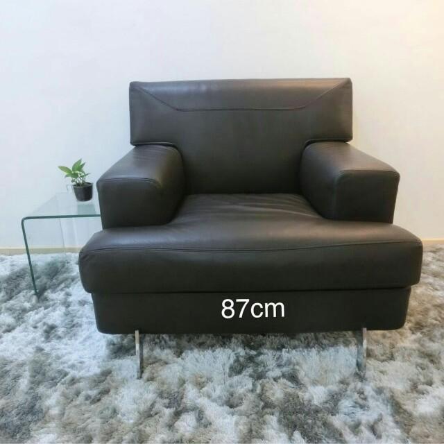Genuine leather itally sofa
