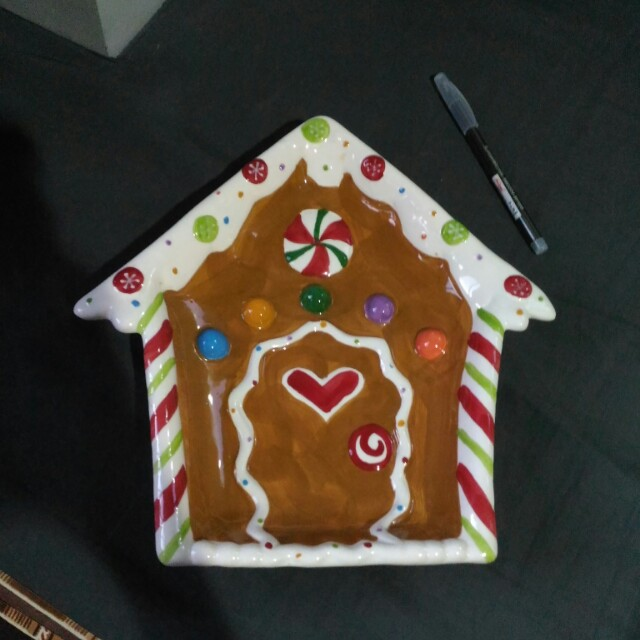 Gingerbread Ceramic Plate