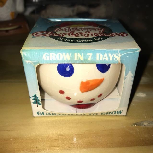 Grass Grow Kit Christmas Snowman