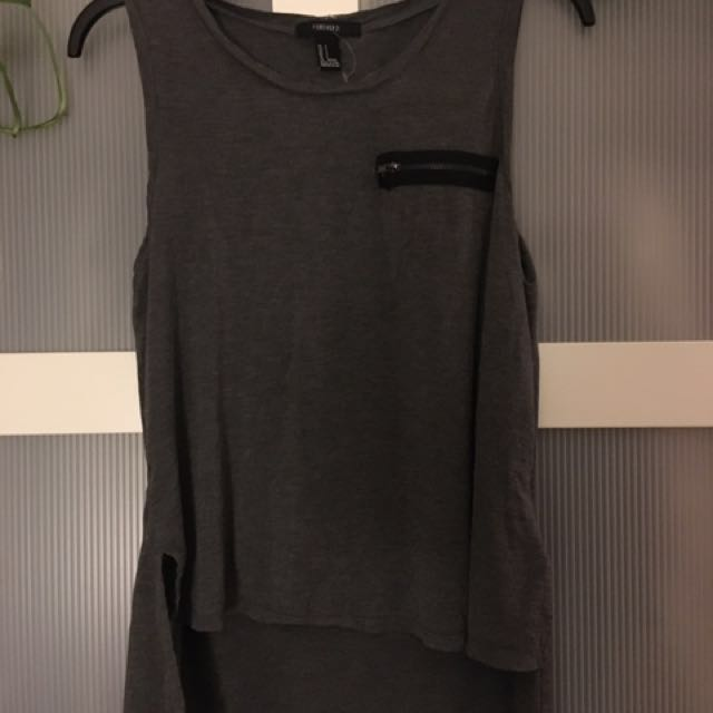 Grey tank w/ zipper