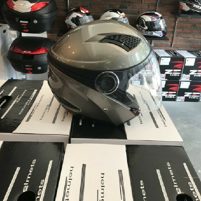 Helm Zeus Dary Gray Half Face ZS 610 JET SNI Competition Grade