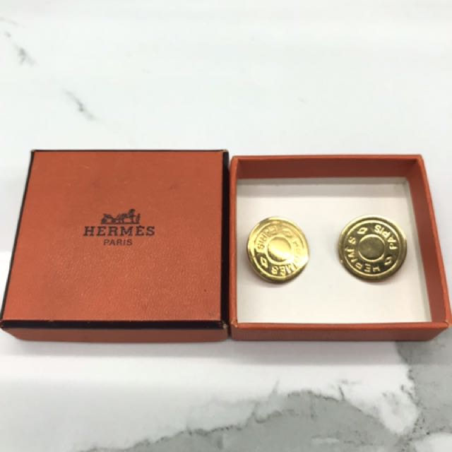 Hermes clip earrings