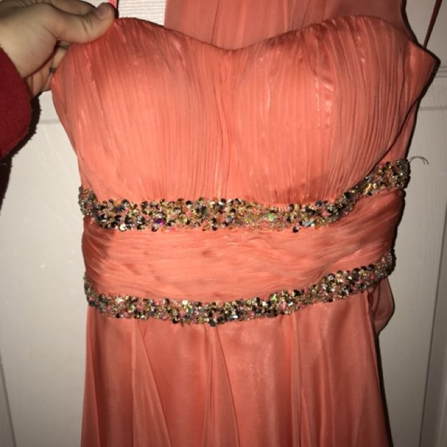 High low cut Prom dress