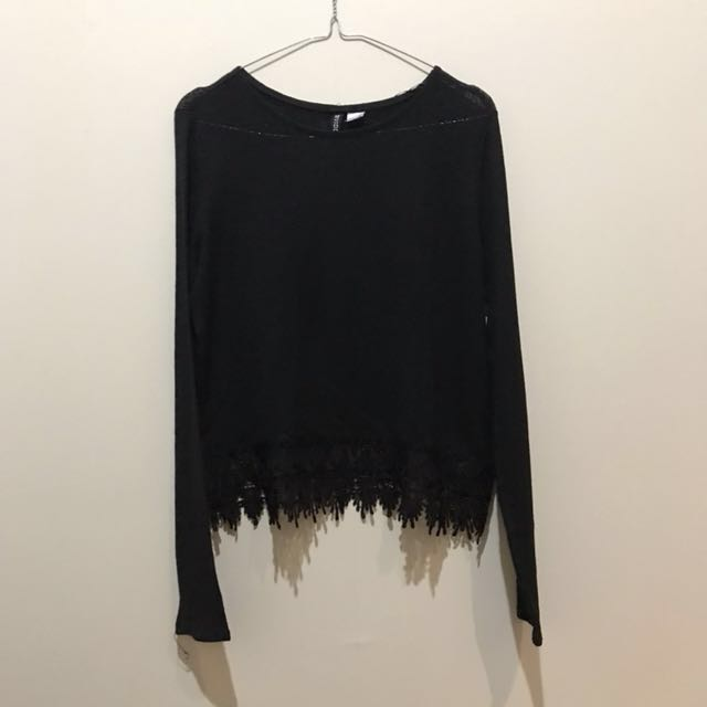 H&M - Black Lace Top