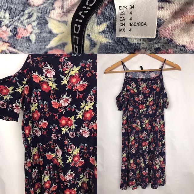 H&M Floral Off- Shoulder Top/Dress