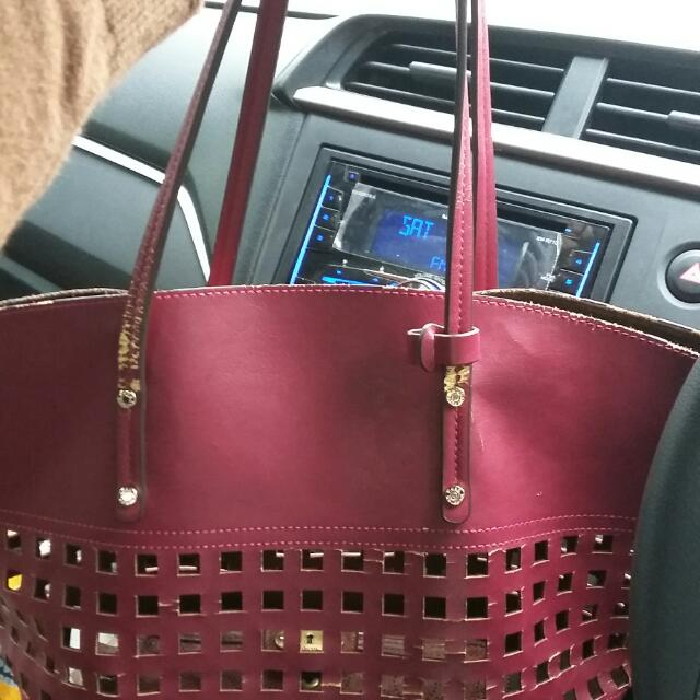 Hush Puppies Bag Shopper Tas Merah