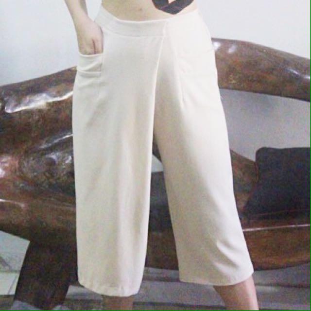 HW (high waist) Culottes Light Beige