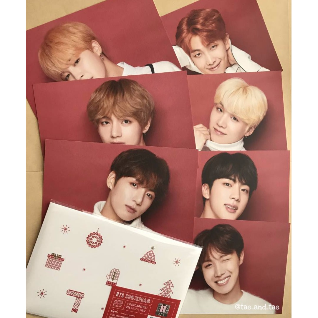 [INCOMING STOCK] BTS X Shibuya 109 Xmas - Postcard Set