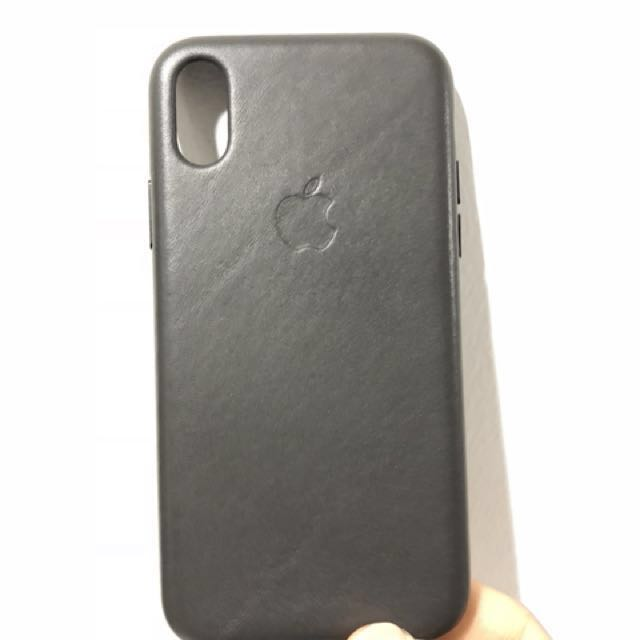 sports shoes 0a564 54df3 iPhone X Leather Case (Charcoal Gray)