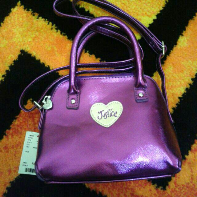 Justice Dark Violet/ Deep Purple Sling Bag