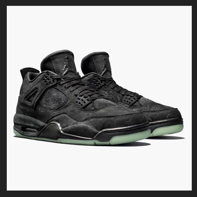 0a157a33f1d7 Kaws x Nike Air Jordan 4 Retro Black Glow