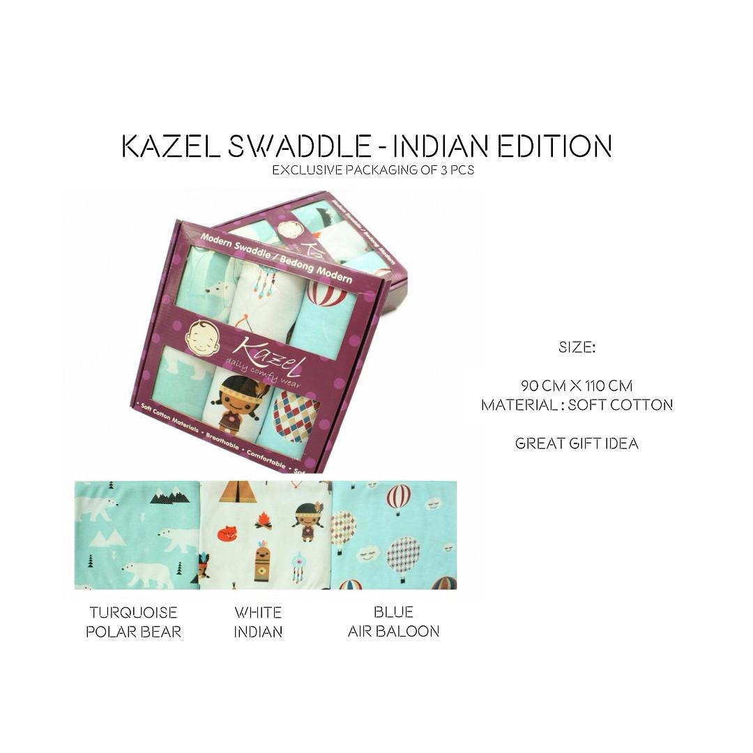 Kazel Bedong Bayi Modern Swaddle Indian Edition Daftar Update Miabelle Set 3pcs Uk100x110cm Fp02 Baby
