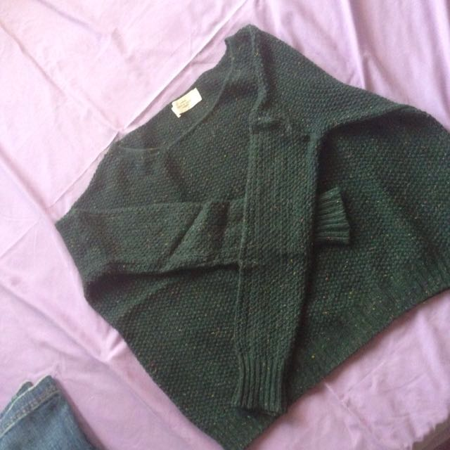 Knitted Dark Green Sweater