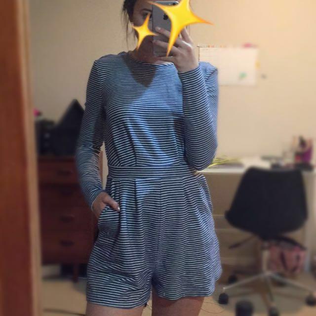 Kookai Striped Playsuit