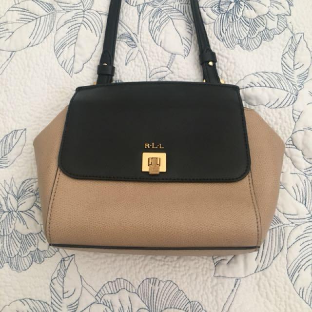 Leather Ralph Lauren Crossbody Handbag
