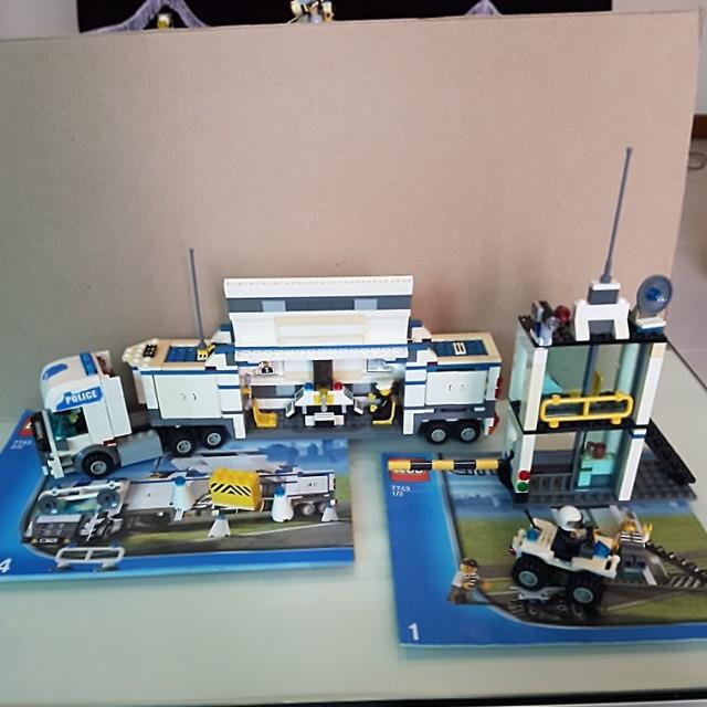 Lego Police Truck Set 7743 Toys Games Bricks Figurines On
