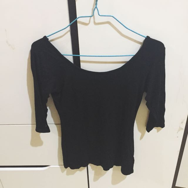 LOWBACK TOP BLACK