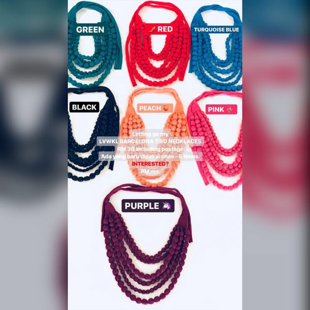 LVWKL Barcelona Tied Necklaces