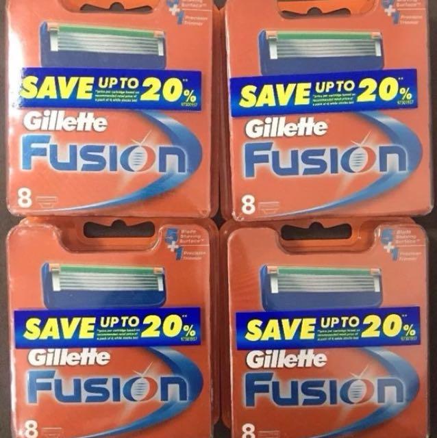 Men's gillette fusion razor blades 32 ( 4x8)