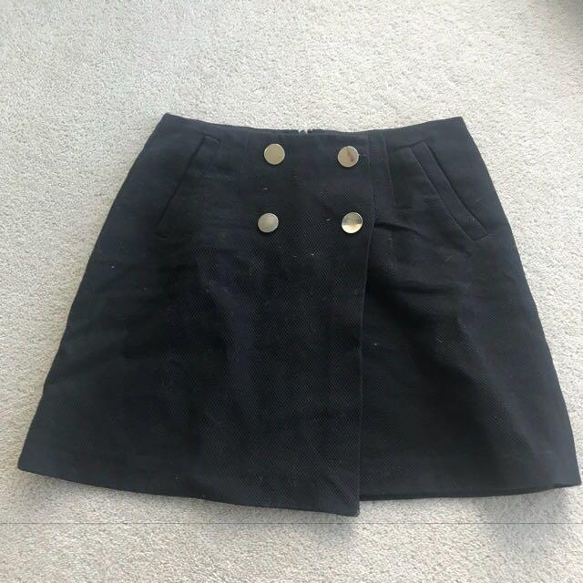 Military style warehouse mini skirt