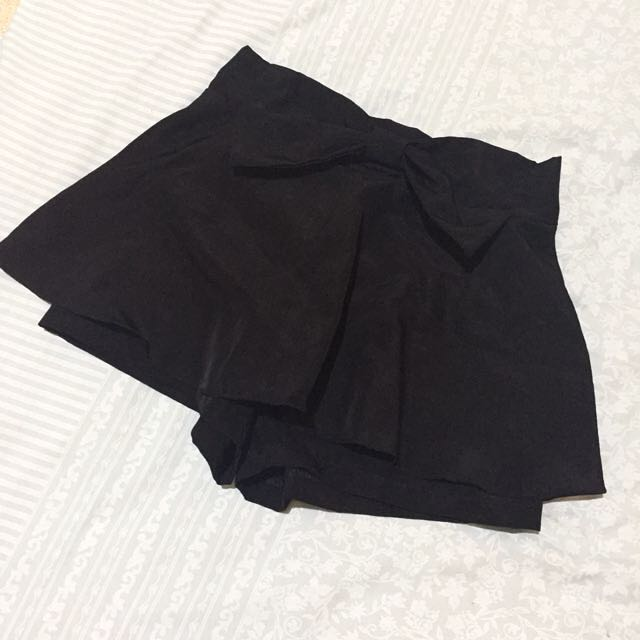 MINI SKIRT PANTS (SKORT) BLACK