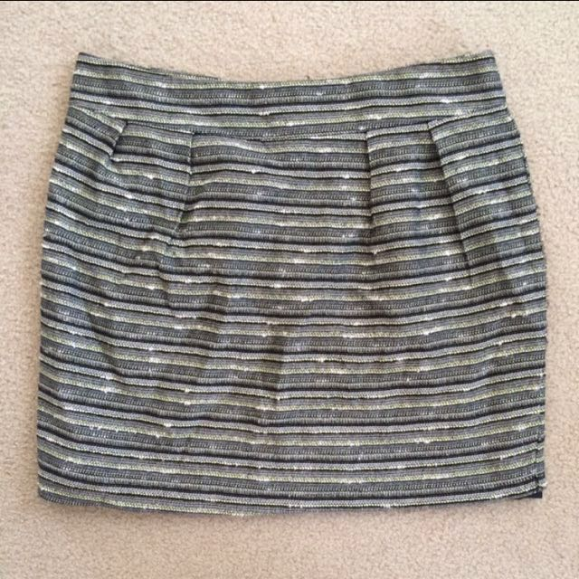 Mossimo Pattern Detailed Mini Skirt - Size 8