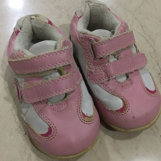 Mothercare Pink Flower Shoes