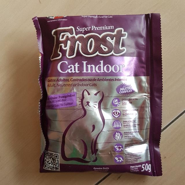 (NEW) SAMPLE MAKANAN KUCING MEREK FROST (SUPER PREMIUM) CAT INDOOR