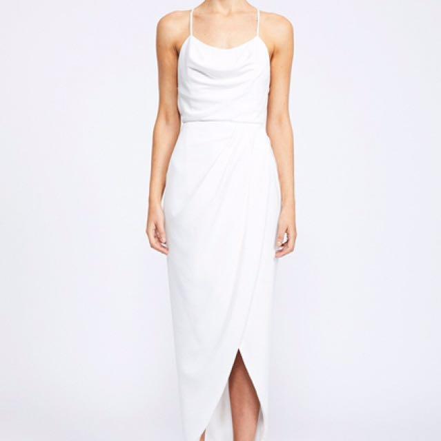 NEW Shona Joy White Cowl Neck Dress