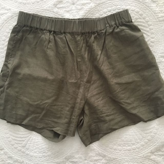Nude Lucy Linen Blend Shorts XS