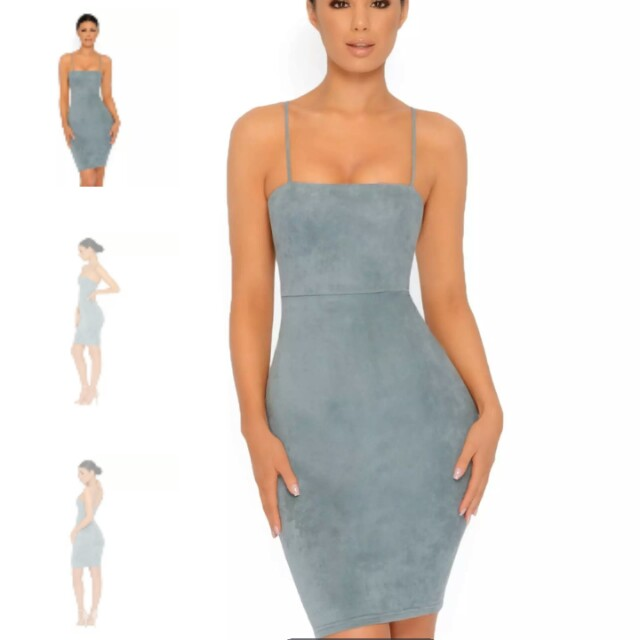 6e16f8cf Ohpolly throwing suede dress in teal bnwt, Women's Fashion, Clothes,  Dresses & Skirts on Carousell